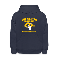 Sweatshirts ~ Kids' Hoodie ~ Los Angeles Football Children's Sweatshirt (Navy Blue)