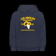 Sweatshirts ~ Kids' Hoodie ~ Los Angeles Football Children's Sweatshirt (Navy Blue)