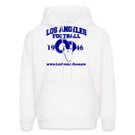 Hoodies ~ Men's Hoodie ~ Los Angeles Football Sweatshirt (White)
