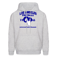 Hoodies ~ Men's Hoodie ~ Los Angeles Football Sweatshirt (Grey)