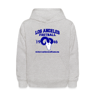 Sweatshirts ~ Kids' Hoodie ~ Los Angeles Football Children's Sweatshirt (Grey)