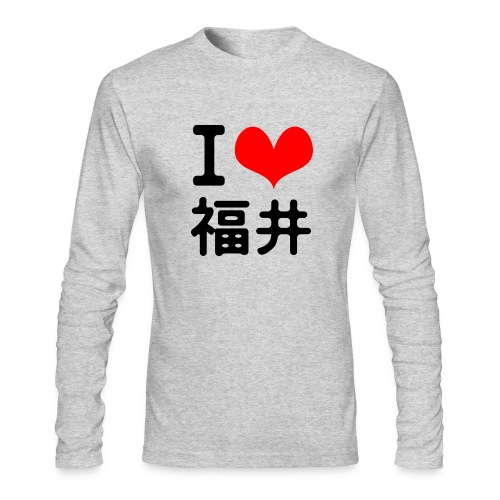 I love Fukui - Men's Long Sleeve T-Shirt by Next Level