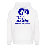 Hoodies ~ Men's Hoodie ~ Bring Back the LA Rams Sweatshirt (White)