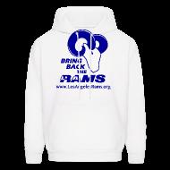 Hoodies ~ Men's Hoodie ~ Bring Back the LA Rams Sweatshirt (White)