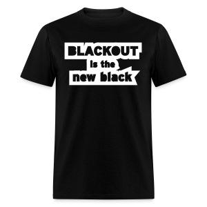 Blackout is the New Black - Men's T-Shirt