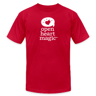 T-Shirts ~ Men's T-Shirt by American Apparel ~ Classic Red Open Heart Magic Tshirt (Mens)