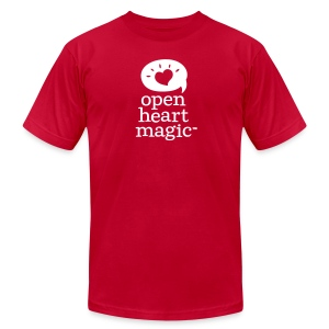 Classic Red Open Heart Magic Tshirt (Mens) - Men's T-Shirt by American Apparel