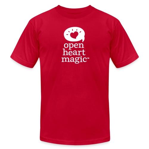 Classic Red Open Heart Magic Tshirt (Mens) - Men's Fine Jersey T-Shirt