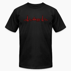 Lines of Heart electrocardiogram heart pulse Jazz T-Shirts