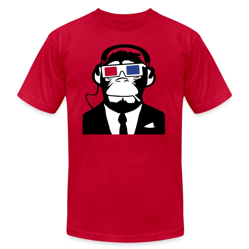 3d ape monkey club electro motive headphones t shirt. Black Bedroom Furniture Sets. Home Design Ideas