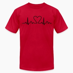 Lines of Heart electrocardiogram heart pulse heart, loving couples, Valentine's Day T-Shirts