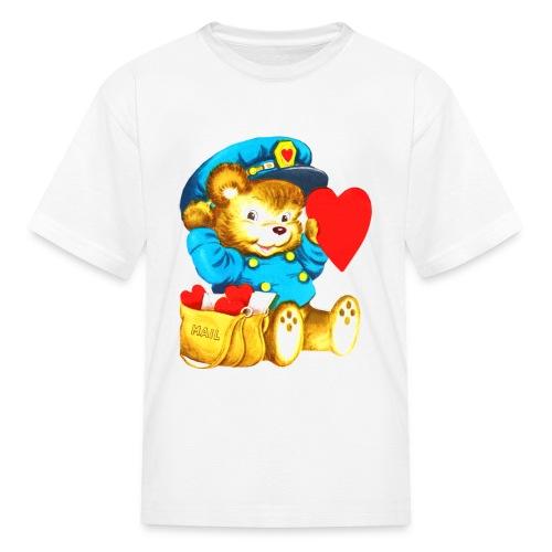 Valentine Postman Bear - Kids' T-Shirt