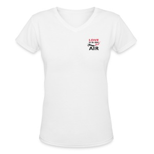 Love is in the air V-neck Tee - Women's V-Neck T-Shirt