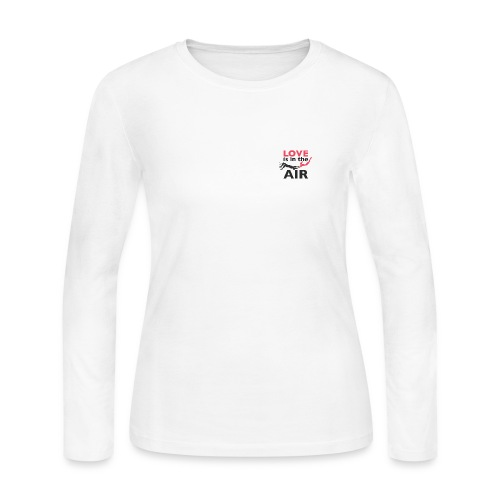 Long Sleeve Love is in the air Tee - Women's Long Sleeve Jersey T-Shirt
