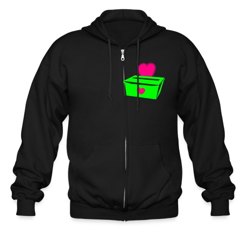 Watermelon Taped/LoveBox - Men's Zip Hoodie