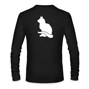 NEW nonchalant cat facing right Long Sleeve Shirts