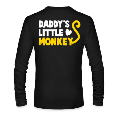 DADDY's little monkey with a cute little tail Long Sleeve Shirts