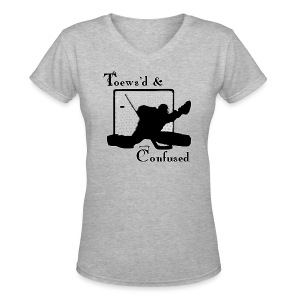 Toews'd & Confused - Women's V-Neck T-Shirt