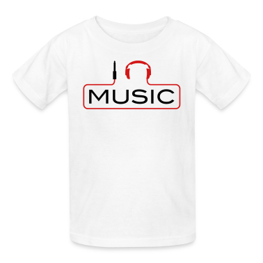 I love music plug headphones sound bass beat catch cable music i love techno minimal house club dance dj discjockey electronic electro Kids' Shirts