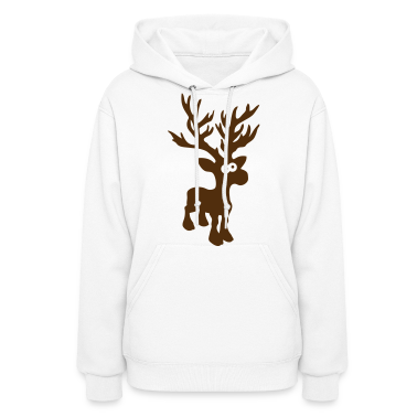 moose caribou reindeer deer christmas rudolph rudolf winter horns antlers deer head Hoodies