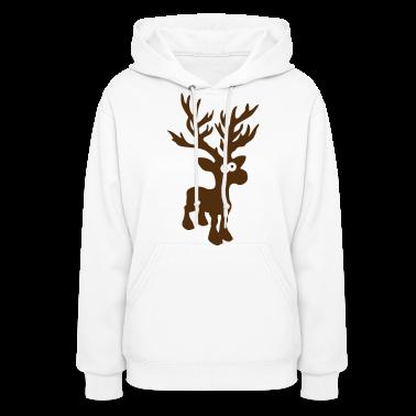 moose caribou reindeer deer christmas rudolph rudolf winter horns antlers deer head Hoodies