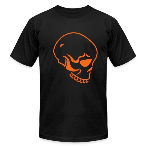 Orange skull - Men's Fine Jersey T-Shirt