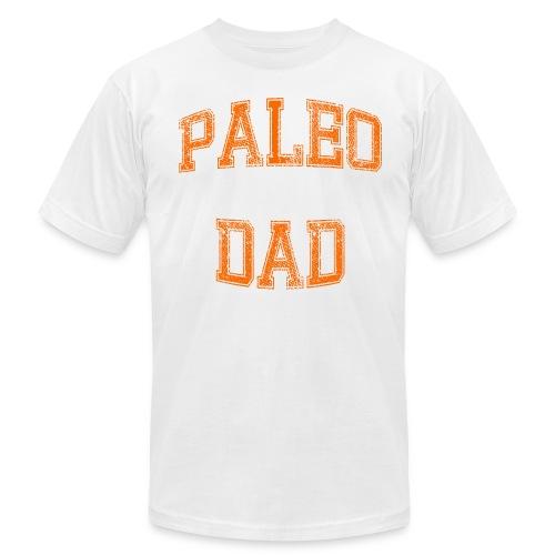 Paleo Dad Men's T-Shirt (Orange Logo) - Men's Fine Jersey T-Shirt