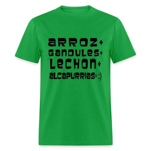 ARROZ+ GANDULES+ LECHON+ ALCAPURRIAS= :) HOMBRE - Men's T-Shirt