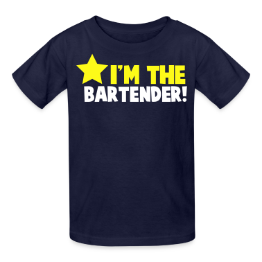 I'm the BARTENDER with a star Kids' Shirts