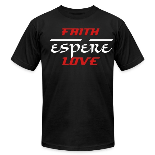 American Apparel Faith Espére/hope love - Men's Fine Jersey T-Shirt