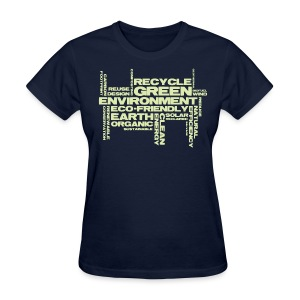 Green Word Cloud - Women's T-Shirt