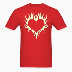 Gothic flaming henna tattoo heart T-Shirts