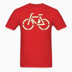 Bicycle / simple bike transport line drawing T-Shirts