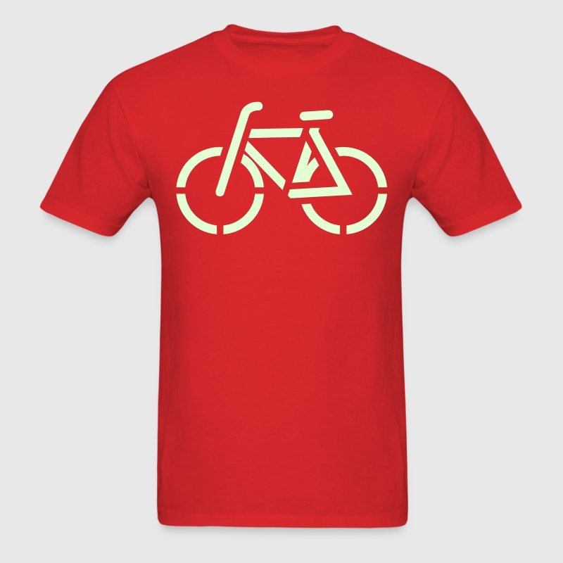 Bicycle / simple bike transport line drawing T-Shirts - Men's T-Shirt
