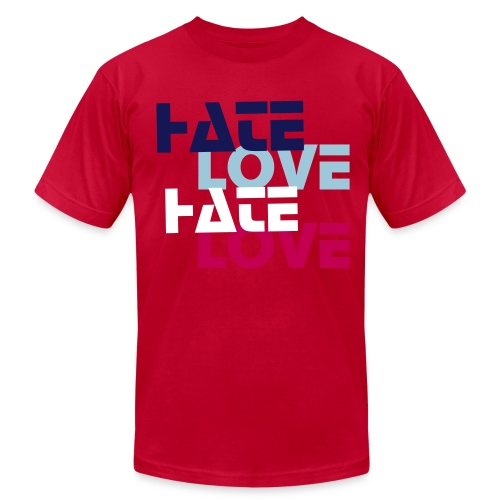 LoveX2 HateX2 T-Shirt  - Men's Fine Jersey T-Shirt