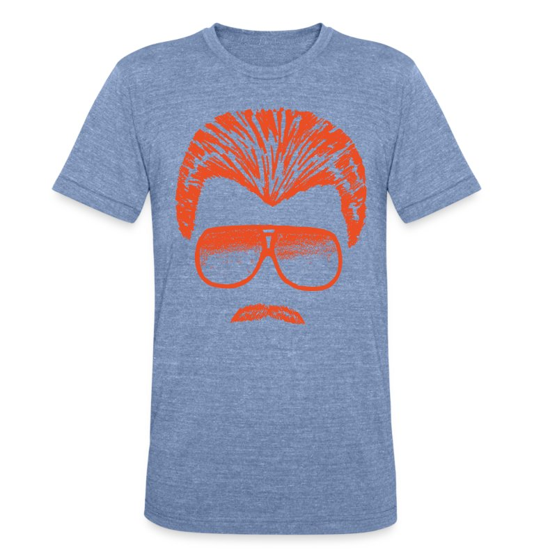 DITKA - HEATHER BLUE - Unisex Tri-Blend T-Shirt by American Apparel
