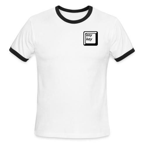 Any Key Shirt - Men's Ringer T-Shirt