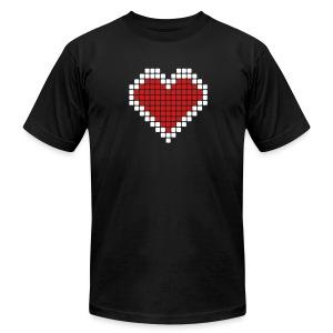 My Big Rounded Corner Pixelated Heart - Men's Fine Jersey T-Shirt