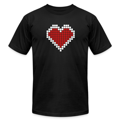 My Big Rounded Corner Pixelated Heart - Men's  Jersey T-Shirt