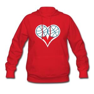 Womens  Philly Basketball heart Sweatshirt - Women's Hoodie