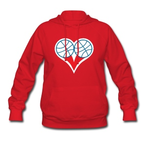 Womens  Philly Basketball heart Sweatshirt - Women's Hoodie