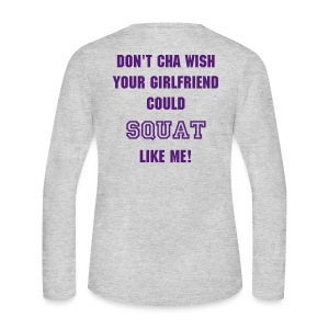Women's Long Sleeve Jersey T-Shirt - STRONG IS THE NEW SKINNY on the front