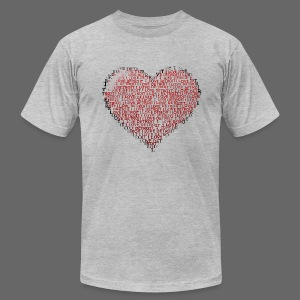 I Love Detroit Heart - Men's T-Shirt by American Apparel
