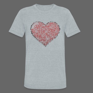 I Love Detroit Heart - Unisex Tri-Blend T-Shirt by American Apparel