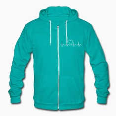 heartbeat Zip Hoodies/Jackets