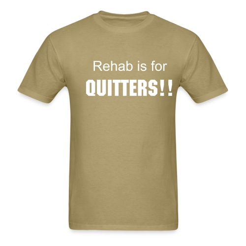 Quitters-light brown - Men's T-Shirt