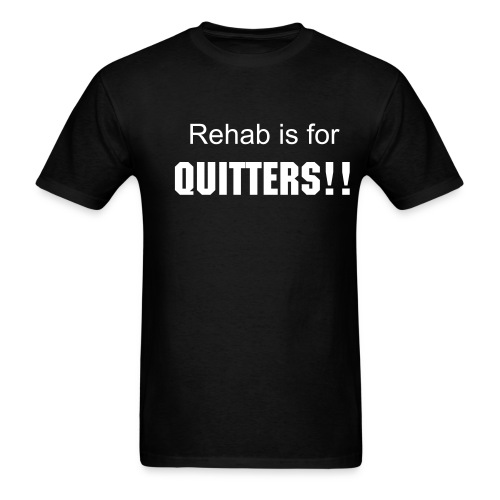 Quitter-Black - Men's T-Shirt