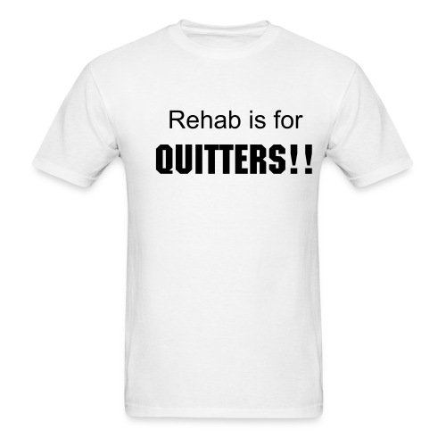 Quitters-White - Men's T-Shirt