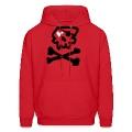 Kantno Skull & Crossbones & Heart Men's Hoodie