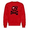 Kantno Skull & Crossbones & Heart Men's Sweatshirt